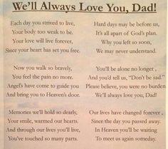 Missing my dad