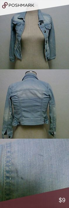 Denim Jacket Girl's denim jacket in good condition. Has a match on the back that can be washed out. Its a size S so I'm like its a 6/7. Freestyle Jackets & Coats Jean Jackets