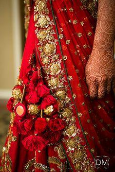 Lattoo for Lehenga Latkans - Super Pretty Trending Hanging Styles for your Wedding Lehenga - Witty Vows Saree Tassels Designs, Lehenga Designs, Indian Wedding Photographer, Bridal Blouse Designs, Indian Attire, Bridal Lehenga, Indian Designer Wear, Indian Bridal, Indian Dresses