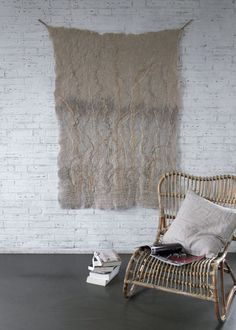 Wallhanging 'Waterfront' / felt