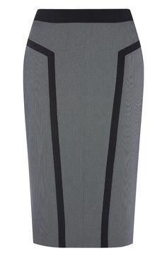 Primark - Grauer Bleistiftrock mit schwarzen Streifen
