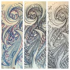 biomechanical arm sleeve drawings - Google Search