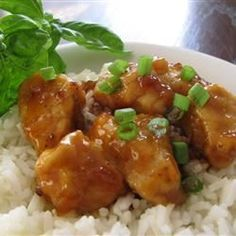 Sweet, Sticky and Spicy Chicken- highly rated on allrecipes