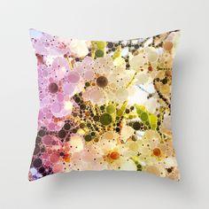 Cherry Blossom Throw Pillow by Alohalani - $20.00