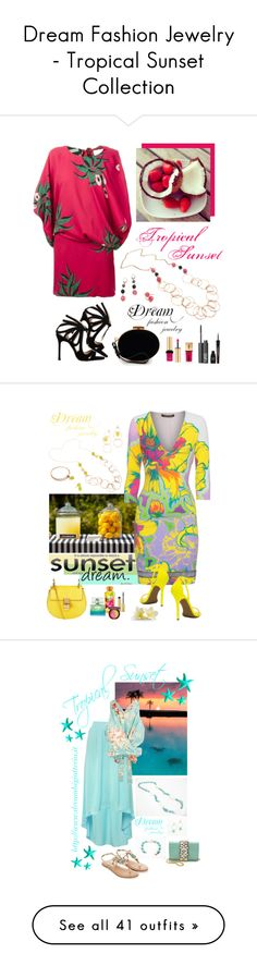 """""""Dream Fashion Jewelry - Tropical Sunset Collection"""" by dreamfashionjewelry on Polyvore"""