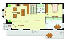 case pe loturi inguste 1 plan parter Narrow Lot House Plans, Floor Plans, House Design, How To Plan, Home, Orice, Planes, Art, Hip Bones