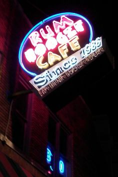Beale Street In memphis TN.  I've been here! Good food and good music.