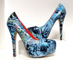 Catwoman High Heels Made to Order by custombykylee on Etsy, $70.00
