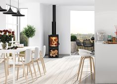 Masport Akaroa Freestanding Radiant Wood Burner with Wood Stacker Black VHT - Mitre 10 - Free Wood Burner Fireplace, Freestanding Fireplace, Storage Solutions, Bricks, Fireplaces, Kit, Club, Steel, Medium