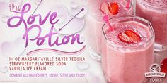 Love Potion - Frozen Cocktail with Margaritaville Silver Tequila