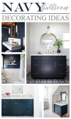 Navy Bathroom Decorating Ideas DIY Ideas Navy bathroom