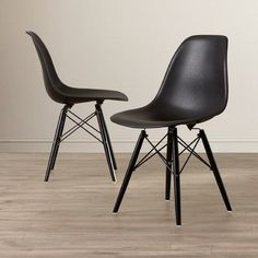 Corrigan Studio Cameron Side Chair Upholstery: Black