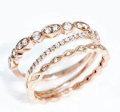 Rose Gold Band Trio - My wedding ideas