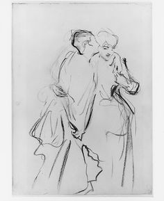 """John Singer Sargent (American, 1856-1925). Whispers, ca. 1883-84. The Metropolitan Museum of Art, New York. Gift of Mrs. Francis Ormond, 1950. (50.130.117)   This work is in our """"Sargent: Portraits of Artists and Friends,"""" on view through October 4, 2015."""