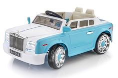 Exclusive Rolls Royce Phantom Style 12v Ride on Car for Kids with Remote Control- Blue