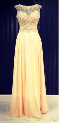 Beading Prom Dress,Long Prom Dresses,Charming Prom Dresses,Evening Dress