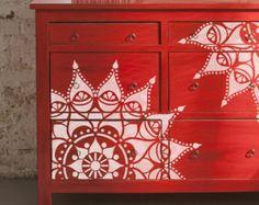 SE001 Stencil Stencil Mediterraneo marocchino piano parete