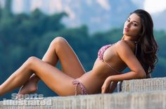Jessica Gomes was photographed by Derek Kettela in Guilin, Guangxi Province, China. Swimsuit by Tori Praver Swimwear.