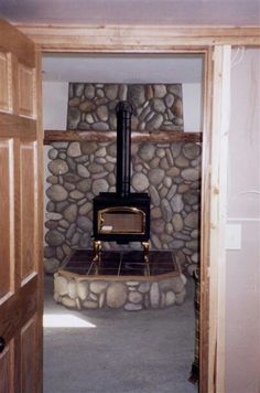 Nice stone and proportions  add storage for wood