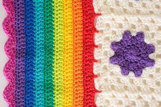 Rainbow Droplets Babyghan - I Like Crochet