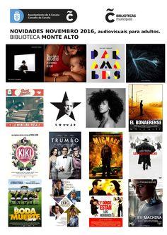 Novos audiovisuais para adultos do mes de novembro da biblioteca Monte Alto.