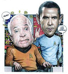 Drew Friedman :: Barack Obama & John McCain