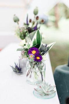 Hochzeitsdekoration mit Weckgläsern (Foto: Lisa Goseberg Fotografie)