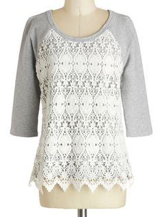 Lace adorned sweater http://rstyle.me/n/gksf5nyg6