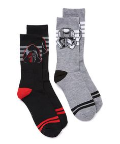 Star Wars Kylo Ren & Stormtrooper Two-Pair Socks - Men's Regular #zulily #zulilyfinds