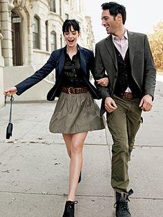 "i've seen ""A woman's best accessory is a well-dressed man,"" used as a quote. a well-dressed man's best ""accessory"" is a beautiful woman. Matching Couple Outfits, Matching Couples, Cute Couples, Nice Outfits, Preppy Mode, Preppy Style, My Style, Couple Style, Fashion Week Paris"