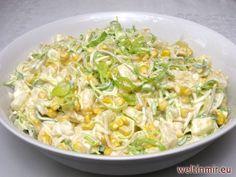 Feiner, leicht sahniger Salat voll mit leckerem Gemüse, Mais und Ananas, in den Sie sich sicher verlieben. Passend für alle Partys, aber Sie machen nichts falsch auch wenn sie ihn als Beilage zum Schnitzel nehmen.