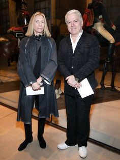 Vogue's Tonne Goodman and Tim Blanks Fashion Editor, Fashion Week, Vera Wang, Tim Blanks, Anna Wintour, Tonne, Aging Gracefully, Wearing Black, Style Icons