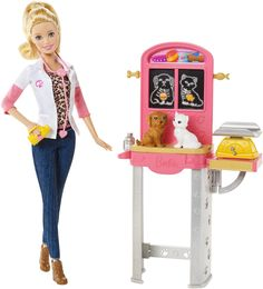 Explore new careers in depth with the Barbie Careers complete play sets. From medicine to teaching, these focused females make anything possible! The Barbie Careers Complete Play Pet Vet set will driv