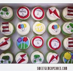 Dr. Sues Fondant Toppers by SweetGemCupcakes on Etsy