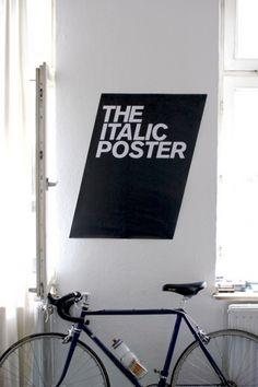 The italic poster #design #typography :)