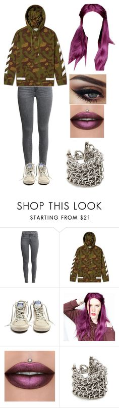 """Hanging Out With Lil Xan"" by an-xie-ty ❤ liked on Polyvore featuring Golden Goose and Alexander Wang"