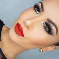 """A red lip will forever be my favorite @colouredraine ""Vanity Raine"" (code:amrezy for 10% off) """