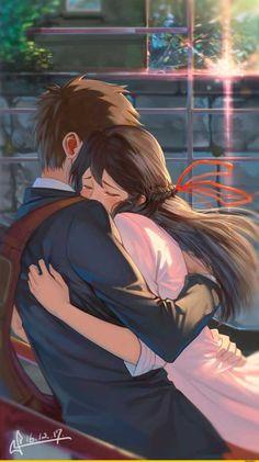 Kimi no Na wa. La mejor pelicula❤, Kimi no Na wa. La mejor pelicula❤ Kimi no Na wa. Manga Anime, Film Anime, Fanarts Anime, Manga Couple, Anime Love Couple, Cute Anime Couples, Art Love Couple, Romantic Anime Couples, Love Art
