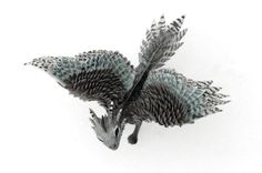 Hey, I found this really awesome Etsy listing at https://www.etsy.com/listing/187877820/little-dragon-cute-figurine-silver-hawk