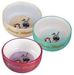Trixie Honey&Hopper keraaminen ruokakuppi. Hinta 7,90 €. Dog Bowls, Honey, Tableware, Eggs, Dinnerware, Tablewares, Dishes, Place Settings