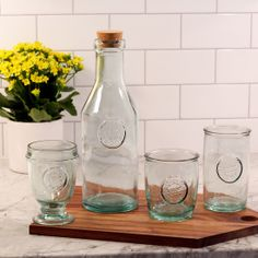 My new favorite glassware. Kind of wish I had all the pieces they make :) The Authentic Glassware from Urban Barn is a unique home decor item. Urban Barn carries a variety of Glassware and other products furnishings. Kitchen Decor, Kitchen Design, Kitchen Stuff, Unique Home Decor, Home Decor Items, Shabby Chic Beach, Urban Barn, Indoor Outdoor Living, Holiday Wishes