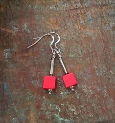 Dangle earrings with earwire in stainless steel. Maker Shop, Etsy Store, Jewelery, Etsy Seller, Drop Earrings, Unique Jewelry, Handmade Gifts, Image, Jewlery
