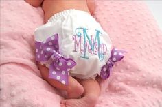 Personalized Diaper Cover Embroidered Diaper Cover or by kutekiddo, $12.75