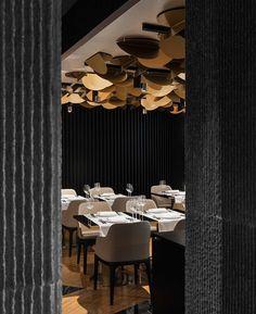 Gamma hotel on Behance Chinese Restaurant, Restaurant Design, Restaurant Bar, Hotel Ceiling, Restaurants, Sky Bar, Villa, Interior Photography, Design Studio