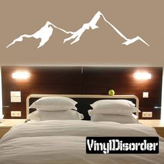 Mountains Wall Decal - Vinyl Decal - Car Decal - MC17