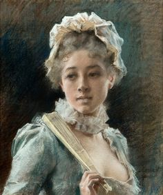 Albert Edelfelt - Young Woman with a Fan | Flickr - Photo Sharing!