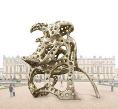 Richard Texier Rhino in Paris sculpture contemporary art trophy
