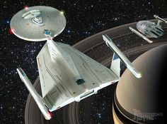 refit Enterprise for Planet of the Titans by John Payne