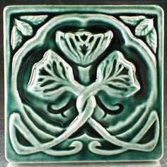 Flower Tile X Tile Relief Tile Art Tile Arts And Crafts Tile - 6x6 accent tiles