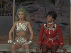 A fave Star Trek episode, Angelique Pettyjohn and Nichelle Nichols-The gamesters of Triskelion. Star Trek StarTrek shared by Neferast AGalaxyNeferast Star Trek Original Series, Star Trek Series, Star Trek Show, Star Wars, Nichelle Nichols, Star Trek Cosplay, Star Trek Episodes, Star Trek Images, Star Trek Universe